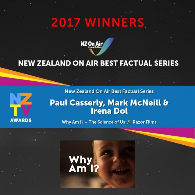 Why Am I? - The Science of Us wins NZTV Award
