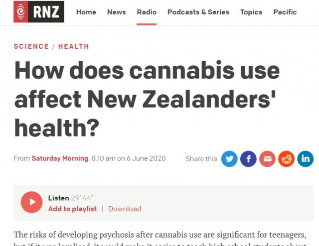 Radio NZ interview's Prof Richie Poulton: How does cannabis use affect New Zealanders' health?